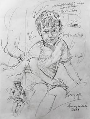 Sketch of 5 year old